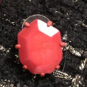 Single Kendra Scott Red Stud Morgan Matte Earring